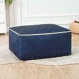 Astrogte - Bolsa de almacenamiento para edredón, bolsa de almacenamiento, bolsa de acabado, Lunares azul marino., Large size (25*50*60cm)