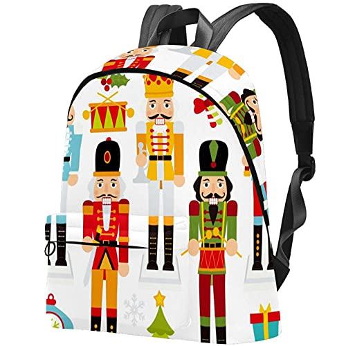 Staroutah zaino bookbag daypack borsa da scuola escursionismo Laptop backpacking Borsa da viaggio all'aperto ad alta capacità e moda Borsa da lavoro cracker di noci di Natale