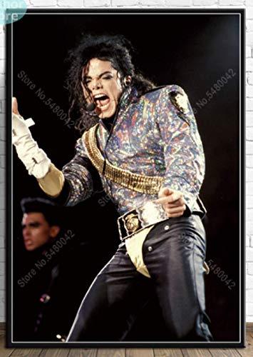 JCYMC Leinwand Bild Michael Jackson Poster Wandkunst König des Musikers Tänzer Poster Drucke Für Raum Wohnkultur Mw9Yx 40X60Cm Rahmenlos