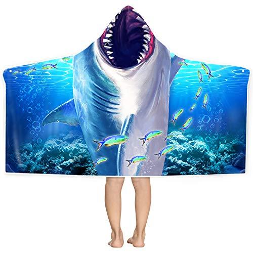 Shark Hooded Beach Towel