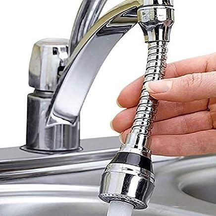 Swastik Ventrice Turbo Flex 360 Flexible Stainless Steel Chrome Finish Faucet Sprayer Water Extender (Standard Size)