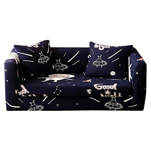 Matefield bankovertrek, elastische bankovertrek met elastiek voor de sofa-handdoek (kat/C)