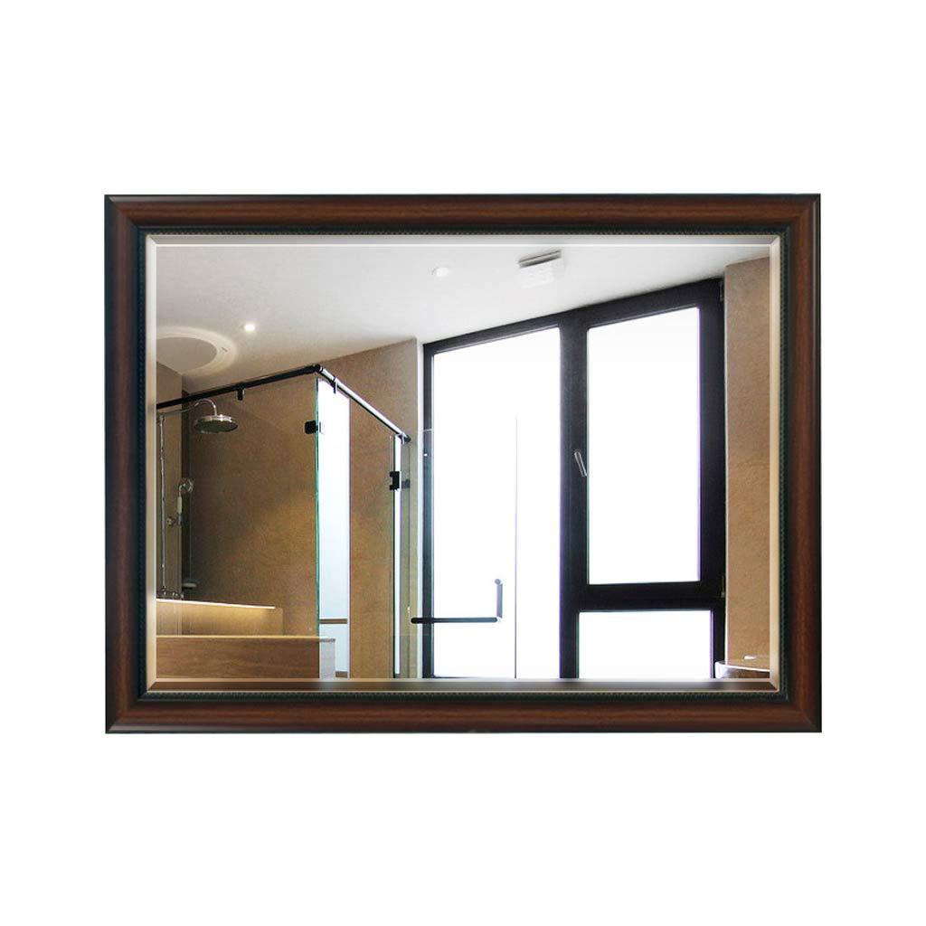 Espejo de Pared para baño, para Hotel Familiar con Espejos de vanidad de Pared Cuadrados de Alta definición, biselados, Simples, Grandes, de 450 * 600 mm (Tamaño : 45 * 60cm): Amazon.es: Hogar