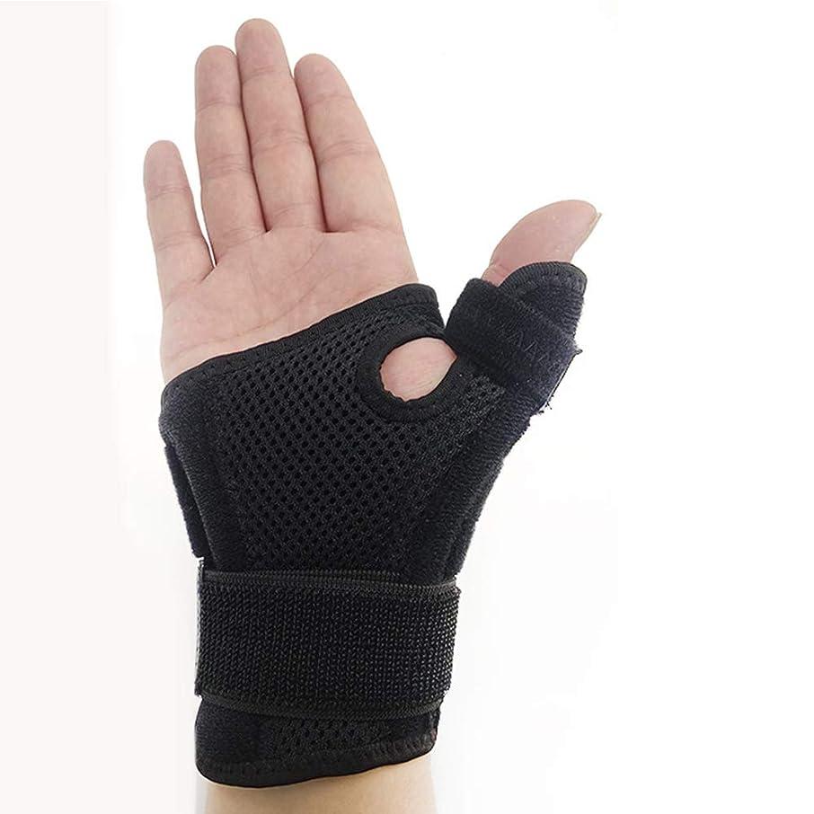 混乱させるスタジアム戸惑う右と左の手黒のヘルスケアのための親指の保護ブレースサポートスプリントの親指の共同捻挫ガード