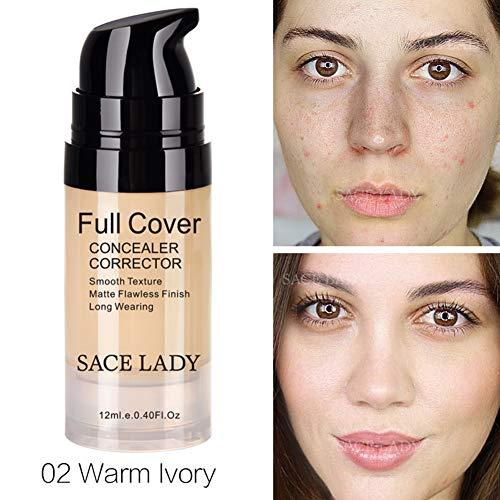 Lucoss Visage crème correcteur maquillage complet du visage hydratant liquide sous-vêtements imperméable maquillage des yeux cosmétiques, Correcteur pour les cercles foncés