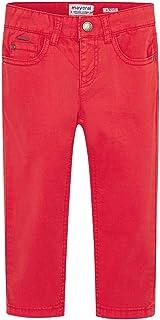 Mayoral Pantalón de algodón de Corte Slim, 8 años (128 cm), Rojo Oscuro