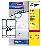 Avery L7159-100 Etichette per indirizzi 24 Etichette per Foglio, 100 Fogli, 63.5 x 33.9, B...