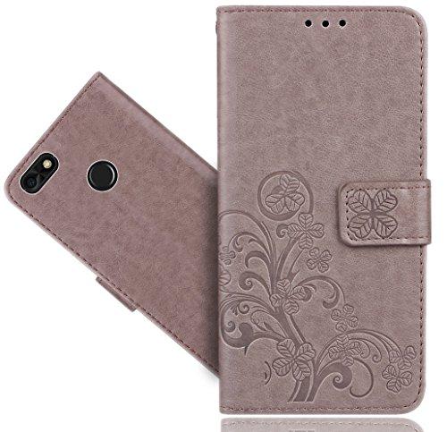 Huawei P9 Lite Mini Handy Tasche, FoneExpert® Wallet Hülle Cover Flower Hüllen Etui Hülle Ledertasche Lederhülle Schutzhülle Für Huawei P9 Lite Mini