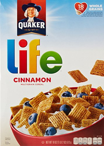 Life Cinnamon Cereal, 18-Ounce (Pack of 14)