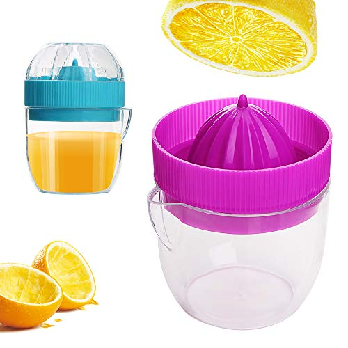 iTimo - 1 exprimidor manual mini, para el hogar, procesadores manuales de alimentos, utensilio para exprimir el zumo del limón, colores aleatorios