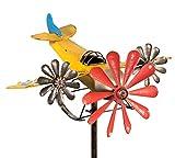 colourliving Windspiel Flugzeug Metall-Windrad 3 Windräder Shabby-Vintage Gartenstecker