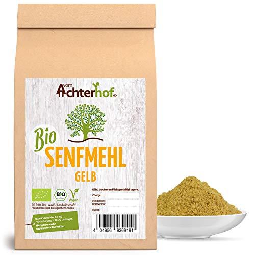 BIO Senfmehl (250g) Senfsaat gelb gemahlen , teilentölt zur Senfherstellung Senfpulver vom-Achterhof