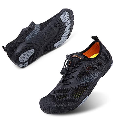 Zapatillas Minimalista Hombre Mujer de Trail Running Escarpines Zapatos de Agua Secado Rápido Deportes Antideslizante Unisexo Negro A Reino Unido 43