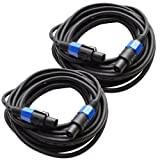 Seismic Audio TW12S35Pair 12 Gauge 35-Feet Speakon to Speakon PA/DJ Speaker Cable