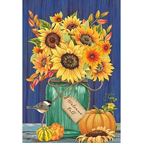 DIY Diamond Painting Kits for Adults, Kids,Home Decor Room Office Presents for Her Him Sunflower 11.8x15.7 in by Greatminer