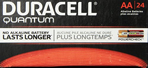 Price comparison product image Duracell - Quantum AA Alkaline Batteries - Long Lasting,  All-Purpose Double A Battery for Household and Business - Pack of 24