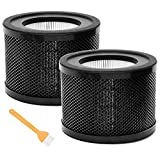 KTSIM H13 HEPA Replacement Filter for TaoTronics TT-AP001 / VAVA VA-EE014 Air Purifier,3-in-1 True HEPA Filter with Activated Carbon Filter- 2 Pack