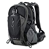 FENGDONG 40L Waterproof Lightweight Outdoor Daypack Hiking,Camping,Travel Backpack for Men Women Black
