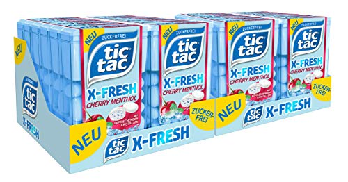 Tic Tac X-Fresh Cherry Menthol, 1er Pack, 24er Pack (24 x 16 g)