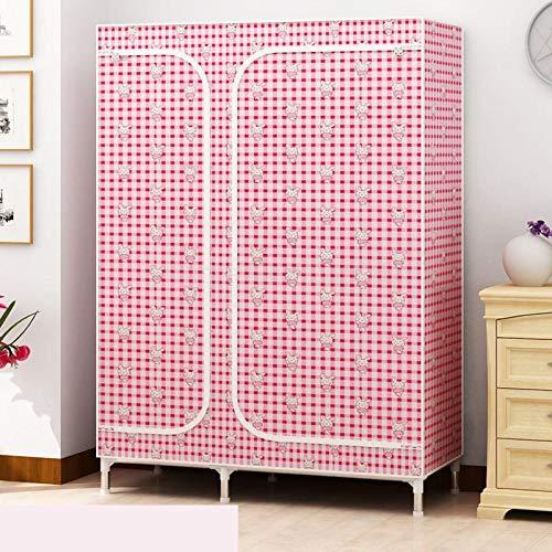 TWDYC Einfache Schrank Montage Nonwoven Staubdichtes feuchtigkeitsfest Schlafzimmer-Speicher-Organisator Zipper Kleidung Closet for Wohnmöbel