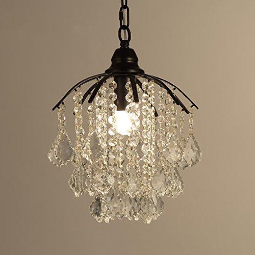 $éclairage Un lustre en cristal simple, un hall d'entrée, un hall d'entrée, un dressing, une chambre simple, une lampe de bar lumières intérieures ( Couleur : Noir )