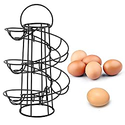 Vencer Deluxe Modern Spiraling Design Metal Freestanding Egg Skelter