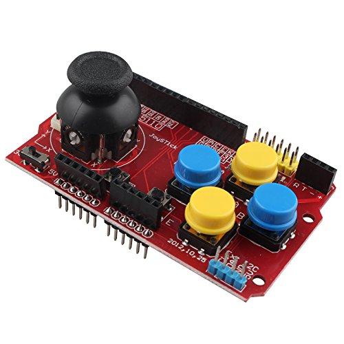 HALJIA Joystick Teclado Escudo Expansion eoard Juego Joystick de simulación de Teclado y ratón función Compatible con Arduino nRF24L01 5110 LCD I2 C IIC