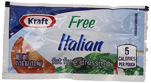 Kraft Fat Free Italian Salad Dressing Single Serve Packet (0.44 oz Packets,...
