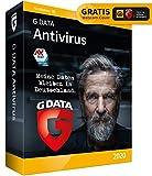 G DATA Antivirus 2020, 3 PCs - 1 Jahr, DVD-ROM inkl. Webcam-Cover, Virenschutzprogramm für Windows 10 / 8 / 7, Made in Germany