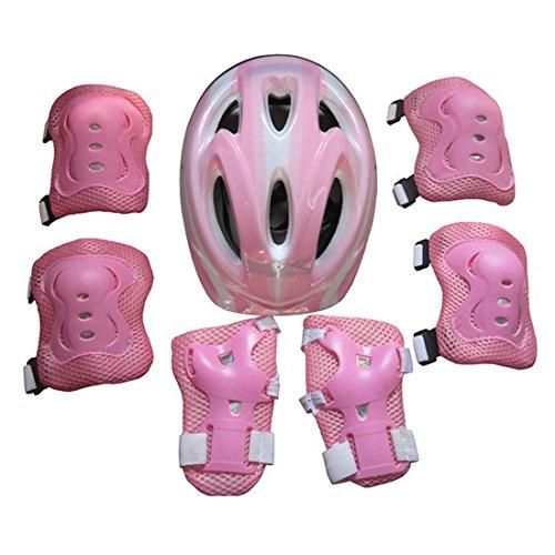 15000P Klein Kinder Schutzausrüstung Set mit Schutzhelm Knieschoner Ellenbogenschützer Handgelenkschutz für Inline Skates Skateboarding
