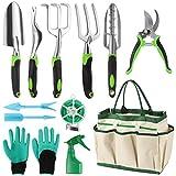 Siebwin Set Attrezzi Giardinaggio, 12 Pezzi Kit da Giardinaggio in Acciaio Inossidabile co...