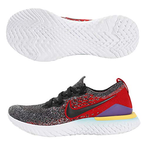 Nike Epic React Flyknit 2 Men's Running Shoe Black/Black-Hyper Jade-University RED 10.0