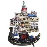 Weekinglo Souvenir Imán de Nevera Venezia Venecia Italia Resina 3D Artesanía Hecha A Mano Turística Viaje Ciudad Recuerdo Carta de Recogida Refrigerador Etiqueta