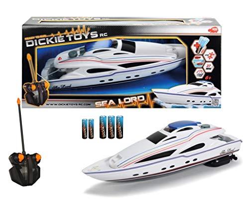 Dickie Toys 201119548 - RC Sea Lord, ferngesteuertertes Boot inklusive Batterien, 34 cm