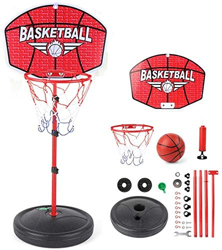 Adjustable Portable Basketball Hoop and Stand for Kids,Height Adjustable Basketball Stand (116cm-150cm) with Backboard for Indoors Outdoors Best Gift for Kids Stable