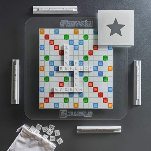 Scrabble Glass Edition with Rotating Game Board