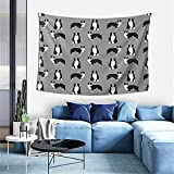 Tapices Australian Shepherd Black And White, Dog, Dogs, Australian Shepherd, Aussie Dog Tapestry for Bedroom Livingroom Dormitory Wall Hanging Decoration Tapestries 60×40inch