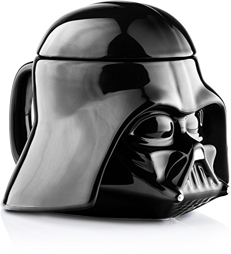 Star Wars Mug - Darth Vader Helmet 3D Ceramic Figural Coffee Mug with Removable Lid - 20 oz