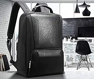 """Bopai Luxury Style Leather & Microfibre Anti-Theft Business and Travel with USB Charging Backpack B7101 Black 15.6"""" Laptop"""