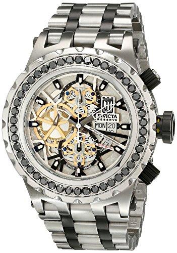 Invicta Men's 15495BWB Jason Taylor Analog Display Swiss Automatic Two Tone Watch