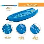 Lifetime Youth Wave Kayak (Paddle Included), Blue, 6' 13 Ergonomic Cockpit Design Enhances Balance and Motor Skills Molded finger handles on each side of the kayak Reverse chine for enhanced stability with swim-up step