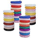 Yesland 40 unidades en 20 colores, gomas para el pelo en espiral, gomas para el pelo, gomas elásticas para el pelo, no Crease Fitness anti puntas