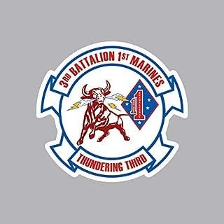 3rd Battalion 1st Marine Regiment USMC Outline Sticker Vinyl Decal Sticker Made in USA