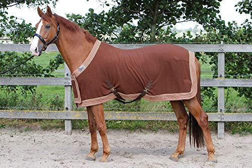 Harry's Horse 32200086-05205cm Manta de Forro Polar Prunk Modelo con Protector para el Vientre L, Color Negro