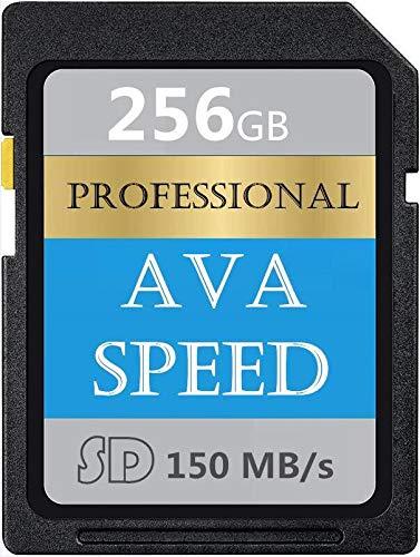Scheda di memoria SDXC ad alta compatibilità 256GB UHS-I Scheda di memoria SD V60, U3, Max 150MB/S ad alta velocità per fotocamere (256GB)