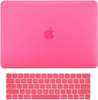 TOP CASE MacBook Pro 13 inch Case 2019 2018 2017 2016 Release A2159 A1989 A1706, 2 in 1 Signature Bundle Rubberized Hard Case + Keyboard Cover Compatible MacBook Pro 13