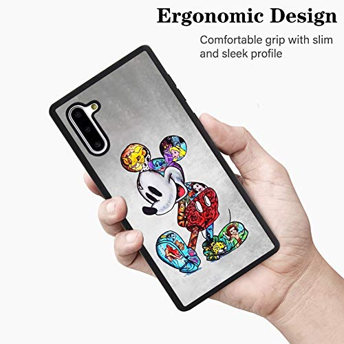 DISNEY COLLECTION Case for Samsung Galaxy Note 10 (6.3 inch) TPU+PC Mickey Mouse Cartoon Cute Rub Slip Shock Proof…