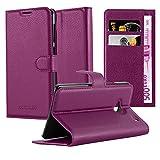 Cadorabo Hülle für HTC ONE M7 (1. Gen.) in Mangan VIOLETT - Handyhülle mit Magnetverschluss, Standfunktion & Kartenfach - Hülle Cover Schutzhülle Etui Tasche Book Klapp Style
