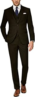 Frank Men's 3 Pieces Suit Elegant Solid Two Buttons Slim Fit Single Breasted Party Blazer Vest Pants Set