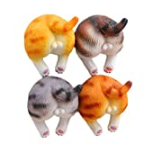 CHOOLD Cute 3D Funny Cute Cat Butt Refrigerator Magnets Office Magnets Calendar Magnet Whiteboard Magnets Home Decoration (Set of 4)
